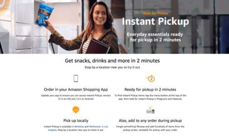 Instant Shopping Services - Amazon's Instant Pickup Helps Consumers Get Items in Two Minutes