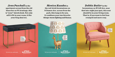 Personalized Furniture Ads - Cost Plus World Market's Ads Call Out Specific Shoppers