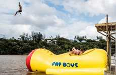 Body-Launching Water Toys - The Fat Boys Blob Launch Pad Offers Intense Fun on the Water