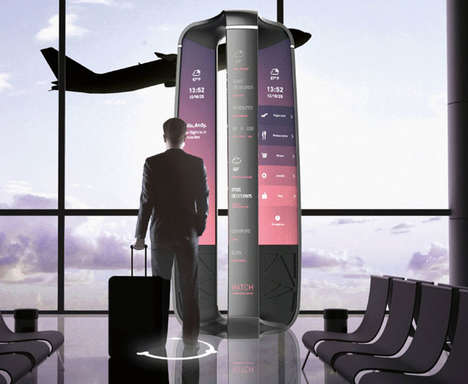 Intuitive Airport Navigation Hubs - The 'XENO' Airport Communication System Personalizes Infor