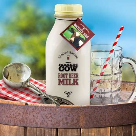 Soda-Flavored Milks - The Newest Limited-Edition Product from the Farmer's Cow is 'Root Beer Milk'