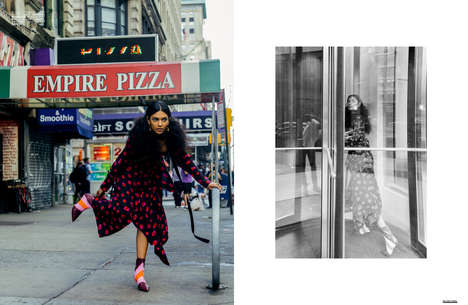 Candid Street Style Editorials - 'Take the Heat Off Me' Spotlights Patterned Wardrobe Picks