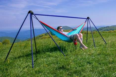 Secure Hammock-Hanging Structures - The ENO Nomad Hammock Stands Let You Set Up the Seat Anywhere