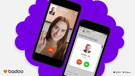 Dating App Video Chats - 'Badoo' Now Offers an In-App Live Video Chat Feature