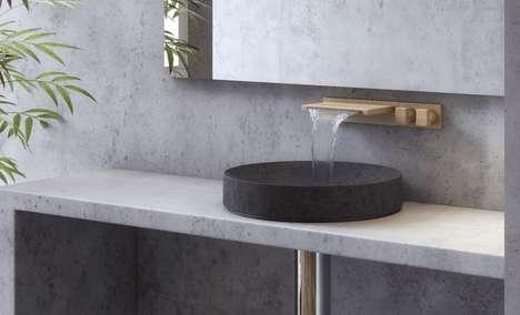 Contemporary Wooden Bathroom Faucets