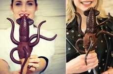 Chocolate-Dipped Squid Ice Creams