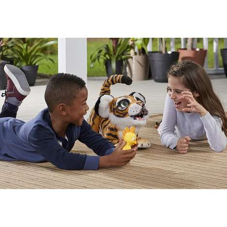 Interactive Robotic Tiger Toys - The furReal Roarin' Tyler, the Playful Tiger Responds Back to Kids