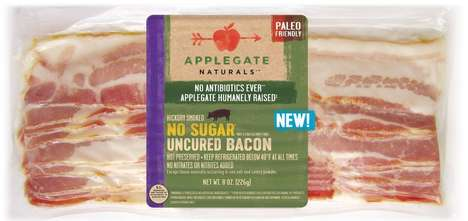 Uncured Sugar-Free Bacon - The Applegate Naturals No Sugar Bacon is Paleo-Friendly