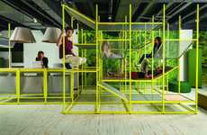 Jungle Gym Meeting Spaces - BuzziSpace's BuzziJungle is an Adult Jungle Gym for Offices