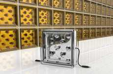 Energy-Harnessing Glass Blocks