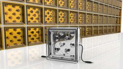 Energy-Harnessing Glass Blocks - These Solar Glass Blocks Aim to Naturally Illuminate Buildings