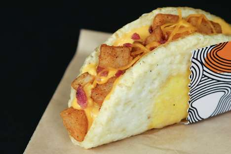 Low-Carb Breakfast Tacos - Taco Bell's New Naked Egg Taco Uses a Fried Egg in Place of a Shell