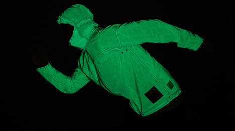 Sun-Charged Outerwear Jackets - The Volleback Solar Charged Jacket Boasts a Glow-in-the-Dark Design
