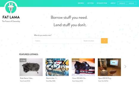 Crowdsourced Rental Platforms - 'Fat Lama' Lets Users Lend and Borrow Each Others' Possessions