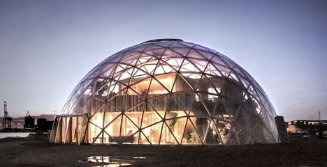 Curvaceous Wooden Domes - The 'Dome of Visions' Explores Wood as an Eco-Friendly Alternative