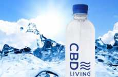 CBD-Infused Bottled Waters - CBD Living's Water Was Made Possible Through New Technologies