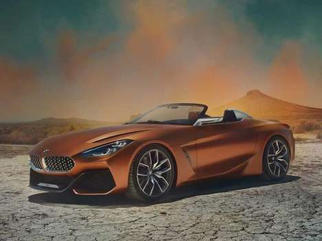 Iconic German Roadster Updates - The BMW Concept Z4 is Designed to Be Both Angry and Elegant