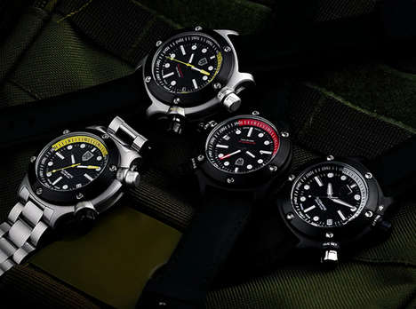 Low-Cost Diver Timepieces - The REBEL AQUAFIN Automatic Dive Watch Has a Swiss-Made Movement