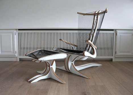 Mythological Creature Seating - The 'Hippokamp' Chair Furniture Design is Sculptural and Chic