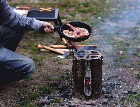 Burning Log BBQs