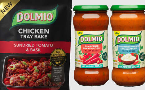 Healthy Prepackaged Pasta Pairings - These New Dolmio Products are Free From Artificial Ingredients