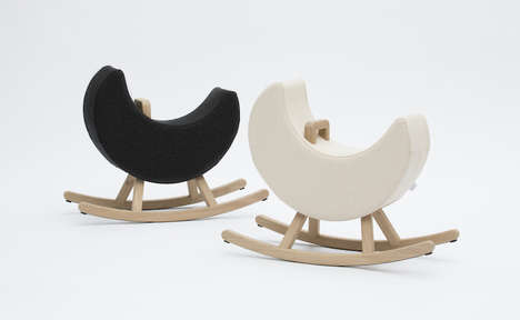 Moon-Shaped Rocking Chairs - A Half-Moon Has Been Added to Maison Deux's Rocking Chair Collection