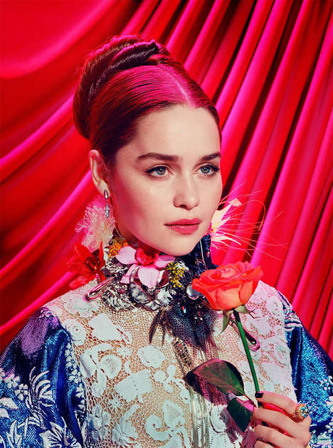 Vibrant Cast Editorials - This Game of Thrones Photoshoot Shows the Cast in a Vivid New Light