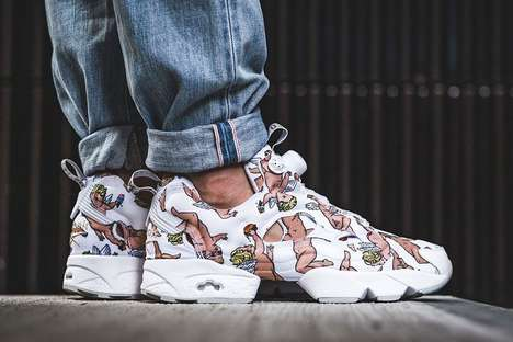 Cupid-Covered Sneakers