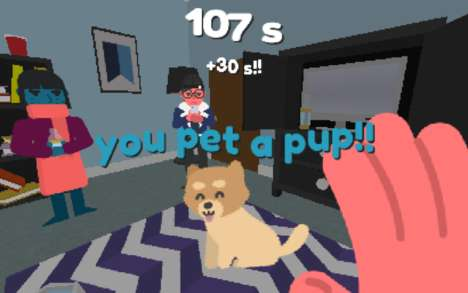 Pup-Petting Games - 'Pet the Pup at the Party' is a Game That Addresses Social Anxiety