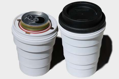 Collapsible Can-Concealing Cups