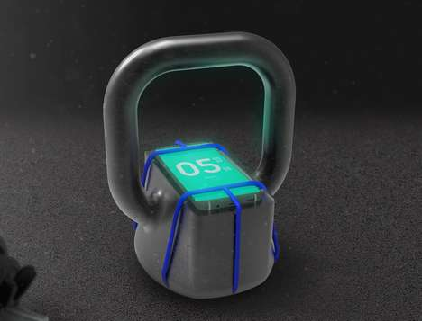 Smartphone-Integrating Workout Weights