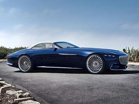 Modernized Convertible Concepts - The Vision Mercedes-Maybach 6 Cabriolet is an Old School EV