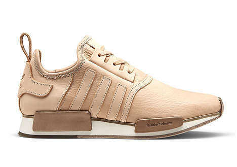 Collaborative Tanned Leather Sneakers - Adidas and Hender Scheme Designed Beige-Toned Sneakers