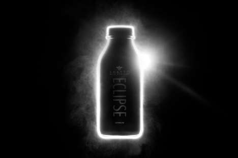 Limited Edition Black Milks - The Shatto Milk Company is Offering Milk Inspired by the Solar Eclipse