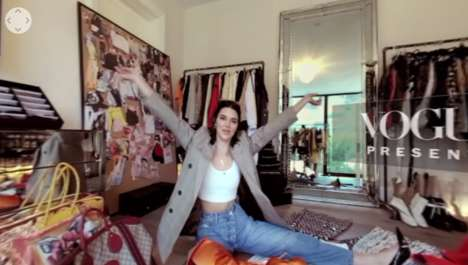 360-Degree Closet Tours - Vogue's Tour of Kendall Jenner's Closet is Powered by Google Daydream