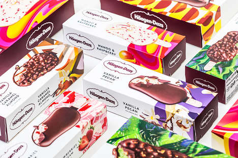 Social Media-Friendly Desserts - Häagen Dazs Has Rebranded To Offer a Bold, Contemporary New Look