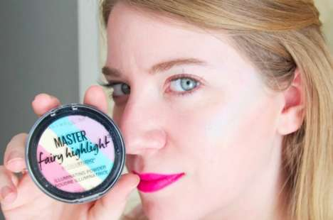 Illuminating Rainbow Highlighters - Maybelline's Master Fairy Highlight Creates a Prismatic Glow