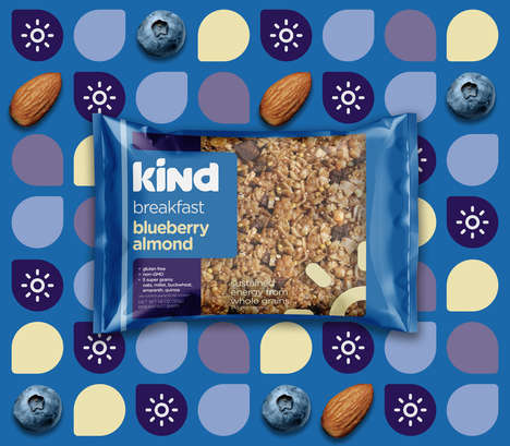 Redesigned Granola Snacks - A Student Has Reimagined the Branding for KIND Snacks