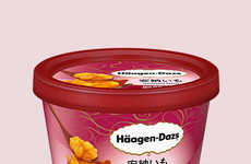 Yam-Flavored Dessert Cups - Häagen-Dazs' Newest Flavor is Orange Sweet Potato Ice Cream