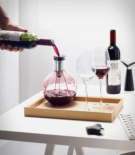 Drip-Free Wine Aerators