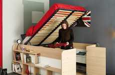 Storage Closet Bed Frames - The Parisot 'Space Up' Double Storage Beds Maximize Functionality