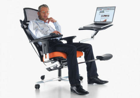 All-in-One Workplace Chairs - The AGATI mPosition Workstation Chairs Don't Require a Fixed Desk