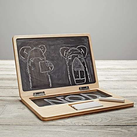Faux Tech Art Tools - Land of Nod's Personal Laptop Chalkboard is a Clever Children's Accessory