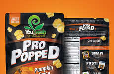 High-Protein Pumpkin Popcorn - You Fresh Naturals' Protein Popcorn Boasts a Pumpkin Spice Flavor