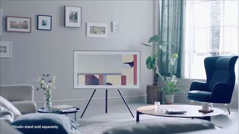 Artistic 4K Televisions - Trend Hunter Talked to Mark Childs About 'The Frame' by Samsung