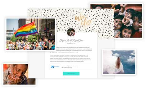 Charitable Wedding Registries - Give:Tendr Encourages Newly Weds' Guests to Donate to a Good Cause