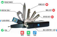 Multipurpose Key Organizers - The Keyport 'Pivot' Multi-Tool Keychain Keeps Essentials on Hand