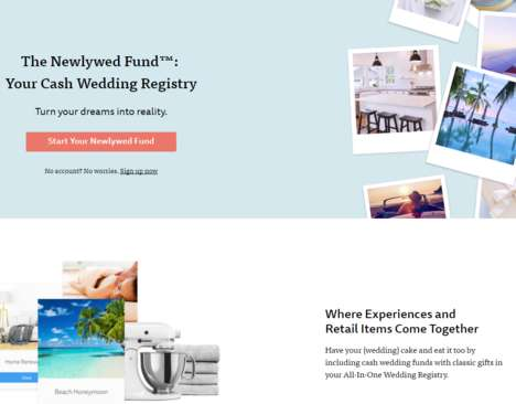 Cash Wedding Funds - The Knot's 'Newlywed Fund' Helps Couples Save for Renovations and Trips