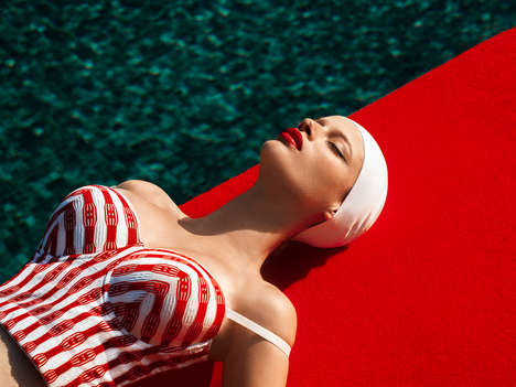Vibrantly Dreamy Poolside Editorials - The 'Dreamer Pool' Editorial is Both Vintage and Elegant
