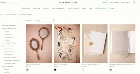 Curated Bridal Gift Ideas - The Anthropologie Bridal Gifts Ideas are Both Elegant and Affordable